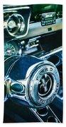 1965 Shelby Prototype Ford Mustang Steering Wheel Emblem 2 Beach Sheet