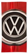 1965 Volkswagen Vw Karmann Ghia Emblem Beach Towel