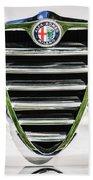 1966 Alfa Romeo Gtc Grille Emblem -1438c Beach Towel