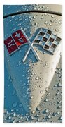 1966 Chevrolet Corvette Sting Ray Hood Emblem Beach Towel