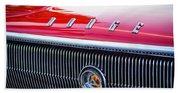 1966 Dodge Charger Grille Emblem Beach Towel