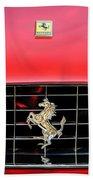 1966 Ferrari 330 Gtc Coupe Hood Emblem -0391c Beach Towel