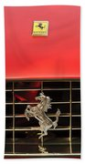 1966 Ferrari 330 Gtc Coupe Hood Ornament Beach Towel