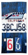 1966 Ford Gt40 License Plate Art By Design Turnpike Beach Towel