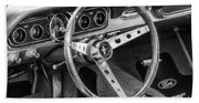 1966 Mustang Dashboard Bw Beach Towel