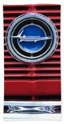 1966 Plymouth Barracuda - Cuda Grille Emblem Beach Towel