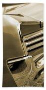 1966 Pontiac Gto Tail In Sepia Beach Towel