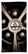 1966 Shelby Cobra Gt350 Wheel Rim Emblem Beach Towel