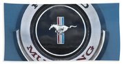 1966 Shelby Gt 350 Emblem Gas Cap Beach Towel