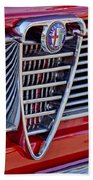 1967 Alfa Romeo Giulia Super Grille Emblem Beach Towel
