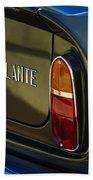 1967 Aston Martin Db6 Volante Tail Light Beach Towel