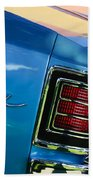 1967 Chevrolet Malibu Taillight Emblem Beach Towel