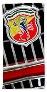 1967 Fiat Abarth 1000 Otr Emblem Beach Towel
