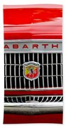 1967 Fiat Abarth 1000 Otr Grille Beach Towel