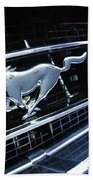 1967 Ford Mustang Gt Grille Emblem Beach Towel