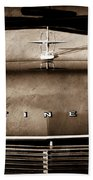 1967 Lincoln Continental Hood Ornament - Emblem Beach Towel