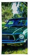 1968 Bullitt Mustang Beach Towel