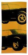1968 Camaro Ss Side View Beach Towel