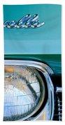 1968 Chevrolet Chevelle Headlight Beach Towel