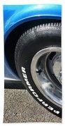1968 Corvette Sting Ray - Blue - Side - 8923 Beach Towel