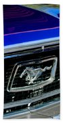 1968 Ford Mustang Cobra Gt 350 Grille Emblem Beach Towel