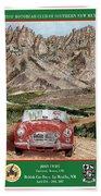 Mountain Rallying In A 1968 M G B  Beach Towel