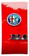 1969 Alfa Romeo Spider Veloce Iniezione Emblem Beach Towel