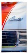 1969 Chevrolet Camaro Rs-ss Indy Pace Car Replica Hood Emblem Beach Towel