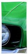 1969 Chevrolet Camaro Ss Headlight Emblems Beach Towel by Jill Reger