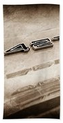 1969 Chevrolet Corvette 427 Emblem Beach Towel