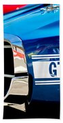 1969 Ford Mustang Shelby Gt350 Grille Emblem Beach Towel