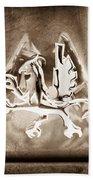 1969 Iso Grifo Emblem Beach Towel