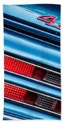 1969 Pontiac 400 Firebird Convertible Taillight Emblem -0029c Beach Towel