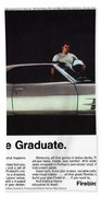 1969 Pontiac Firebird 400 - The Graduate Beach Towel