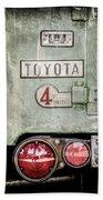 1969 Toyota Fj-40 Land Cruiser Taillight Emblem -0417ac Beach Towel