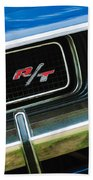 1970 Dodge Challenger Rt Convertible Grille Emblem Beach Towel by Jill Reger