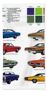 1970 Dodge Coronet Models And Colors Beach Towel