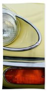 1970 Jaguar Xk Type-e Headlight Beach Towel