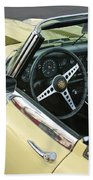 1970 Jaguar Xk Type-e Steering Wheel Beach Towel