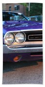 1971 Challenger Front And Side View Beach Sheet