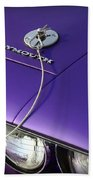 1971 Plum Crazy Purple Plymouth 'cuda 440 Beach Towel by Gordon Dean II