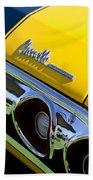 1972 Chevrolet Chevelle Taillight Emblem Beach Towel