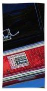 1972 Chevrolet Nova Ss Taillight Emblem -0355c Beach Towel