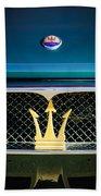 1972 Maserati Ghibli Grille - Hood Emblems Beach Towel