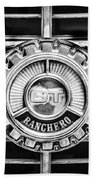 1973 Ford Ranchero Grille Emblem -0769bw Beach Towel