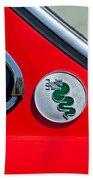 1974 Alfa Romeo Gtv Emblem  Beach Towel