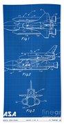 1975 Nasa Space Shuttle Patent Art 1 Beach Towel