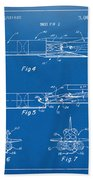 1975 Space Vehicle Patent - Blueprint Beach Towel by Nikki Marie Smith