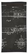 1975 Space Vehicle Patent - Gray Beach Towel
