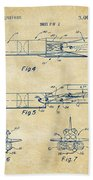1975 Space Vehicle Patent - Vintage Beach Towel